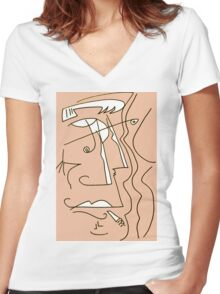After Picasso - Ocho Women's Fitted V-Neck T-Shirt