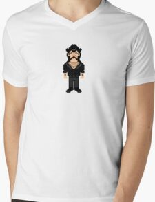big pixel lemmy Mens V-Neck T-Shirt