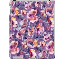 May Afternoon - a watercolor floral in purple and peach iPad Case/Skin