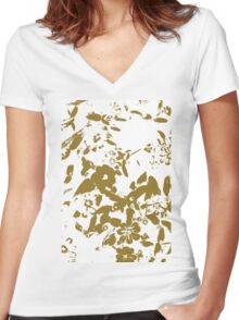 Valley of flowers 3 Women's Fitted V-Neck T-Shirt