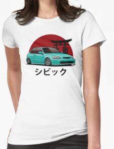 Civic EK (aquamarine) Womens Fitted T-Shirt