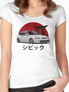 Civic EK (white) Women's Fitted Scoop T-Shirt