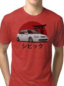 Civic EK (white) Tri-blend T-Shirt