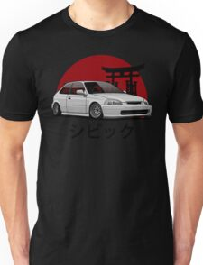 Civic EK (white) Unisex T-Shirt