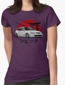 Civic EK (white) Womens Fitted T-Shirt