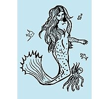 Mermaid with octopus and assorted fish Photographic Print