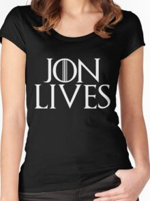 Jon Lives Women's Fitted Scoop T-Shirt