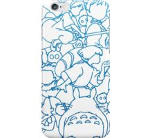Ghibli Blue Design iPhone Case/Skin
