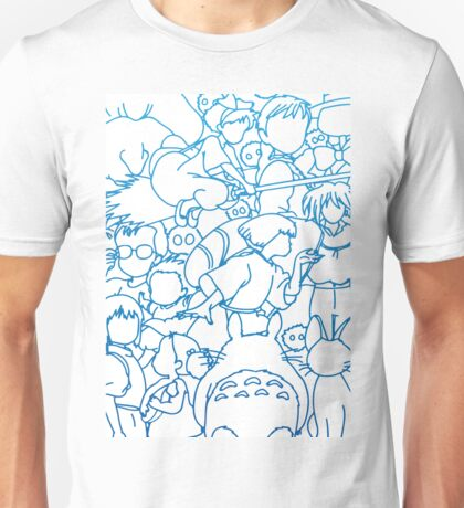 Ghibli Blue Design Unisex T-Shirt