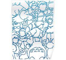 Ghibli Blue Design Poster