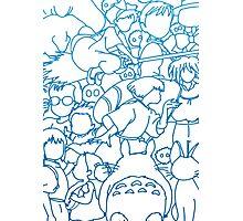 Ghibli Blue Design Photographic Print