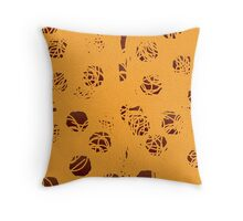 Spaghetti and Meatball Pattern Throw Pillow