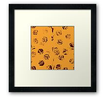 Spaghetti and Meatball Pattern Framed Print
