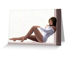 Impressionist Pin up Greeting Card