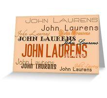 John Laurens Greeting Card