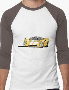 Lola T70 MKIII - Yellow Men's Baseball ¾ T-Shirt