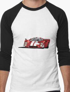 Lola T70 MKIII - Red Men's Baseball ¾ T-Shirt
