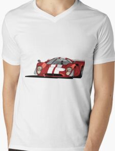 Lola T70 MKIII - Red Mens V-Neck T-Shirt