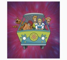 scooby on car One Piece - Short Sleeve