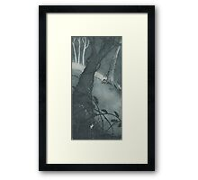 Mouse in undergrowth Framed Print