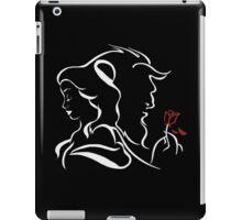 beauty and the beast bw iPad Case/Skin