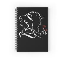 beauty and the beast bw Spiral Notebook