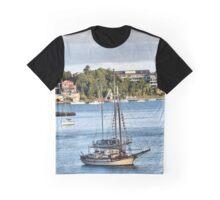 Bedlam Bay Boats  Detail. Graphic T-Shirt