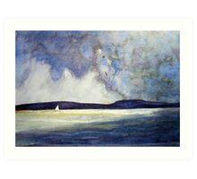 Alone at sea Art Print