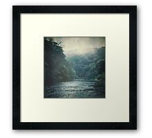 Valley and River Framed Print