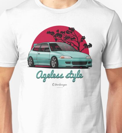 Ageless Style Civic EG (aquamarine) Unisex T-Shirt