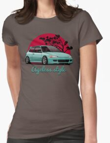 Ageless Style Civic EG (aquamarine) Womens Fitted T-Shirt