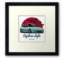 Ageless Style Civic EG (aquamarine) Framed Print