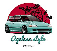 Ageless Style Civic EG (aquamarine) Photographic Print