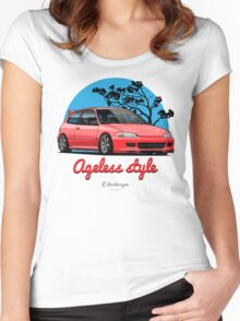 Ageless Style Civic EG (red) Women's Fitted Scoop T-Shirt