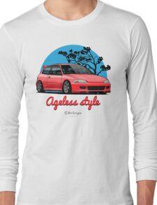 Ageless Style Civic EG (red) Long Sleeve T-Shirt