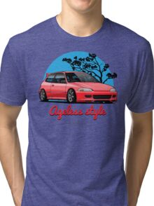 Ageless Style Civic EG (red) Tri-blend T-Shirt
