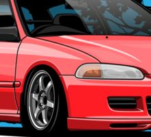 Ageless Style Civic EG (red) Sticker