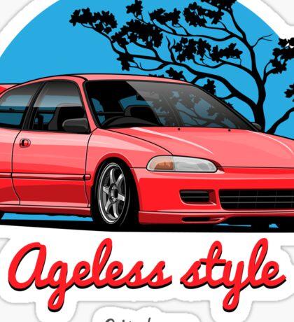 Ageless Style Civic EG (red) Sticker