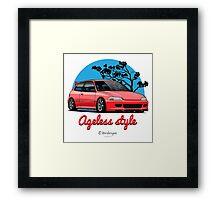 Ageless Style Civic EG (red) Framed Print