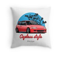 Ageless Style Civic EG (red) Throw Pillow