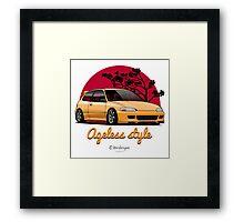 Ageless Style Civic EG (yellow) Framed Print