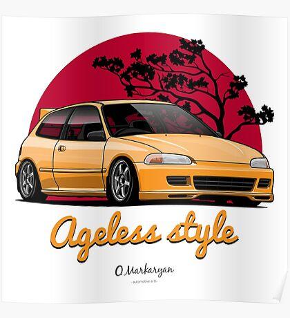 Ageless Style Civic EG (yellow) Poster