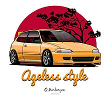 Ageless Style Civic EG (yellow) Photographic Print
