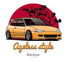 Ageless Style Civic EG (yellow) Photographic Print