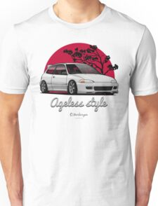Ageless Style Civic EG (white or grey) Unisex T-Shirt