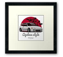 Ageless Style Civic EG (white or grey) Framed Print