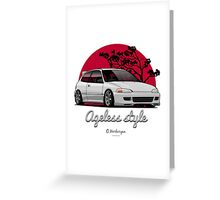 Ageless Style Civic EG (white or grey) Greeting Card