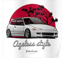 Ageless Style Civic EG (white or grey) Poster