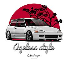 Ageless Style Civic EG (white or grey) Photographic Print