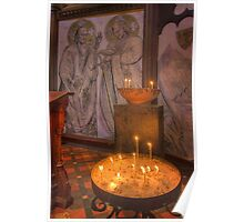 Candles - St Pauls Cathedral Poster